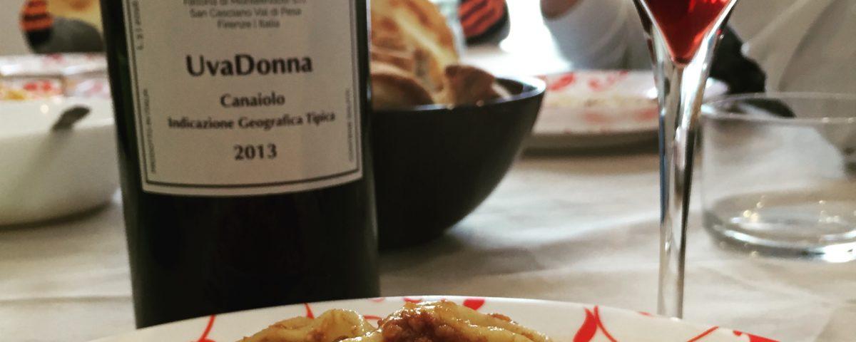 canaiolo nero e calice di vino